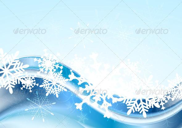 Blue Abstract Xmas Vector Design - Christmas Seasons/Holidays
