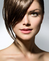 Stylish Fringe. Teenage Girl with Short Hair Style - PhotoDune Item for Sale