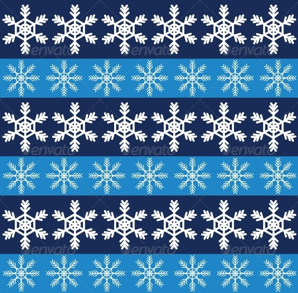 Seamless Pattern with Snowflakes - Patterns Decorative