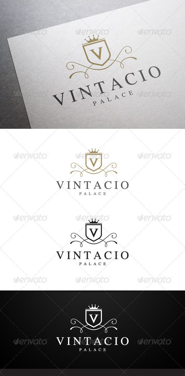 Vintacio Logo - Crests Logo Templates