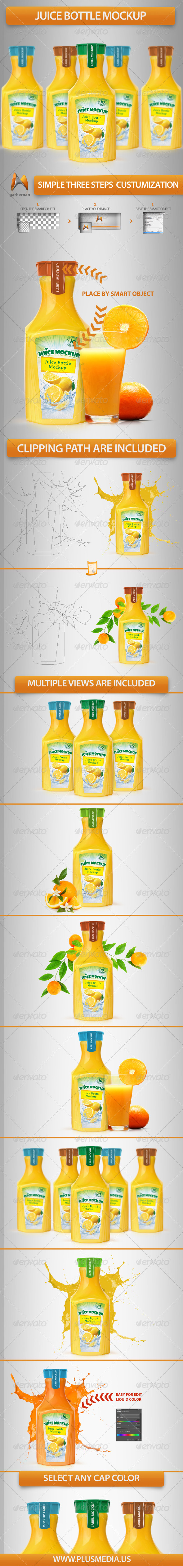 Juice Bottle Mockup - Food and Drink Packaging