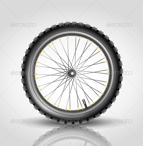Bike Wheel - Objects Vectors