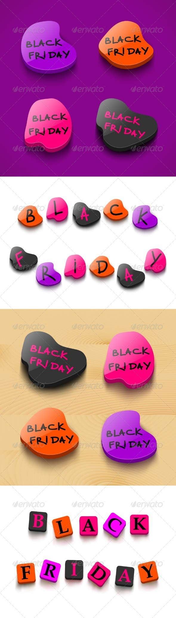 Black Friday Sale Badges - Retail Commercial / Shopping