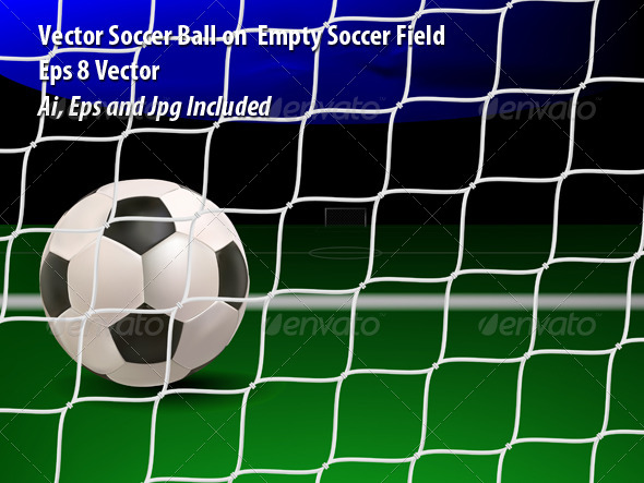 Empty Soccer Field - Sports/Activity Conceptual