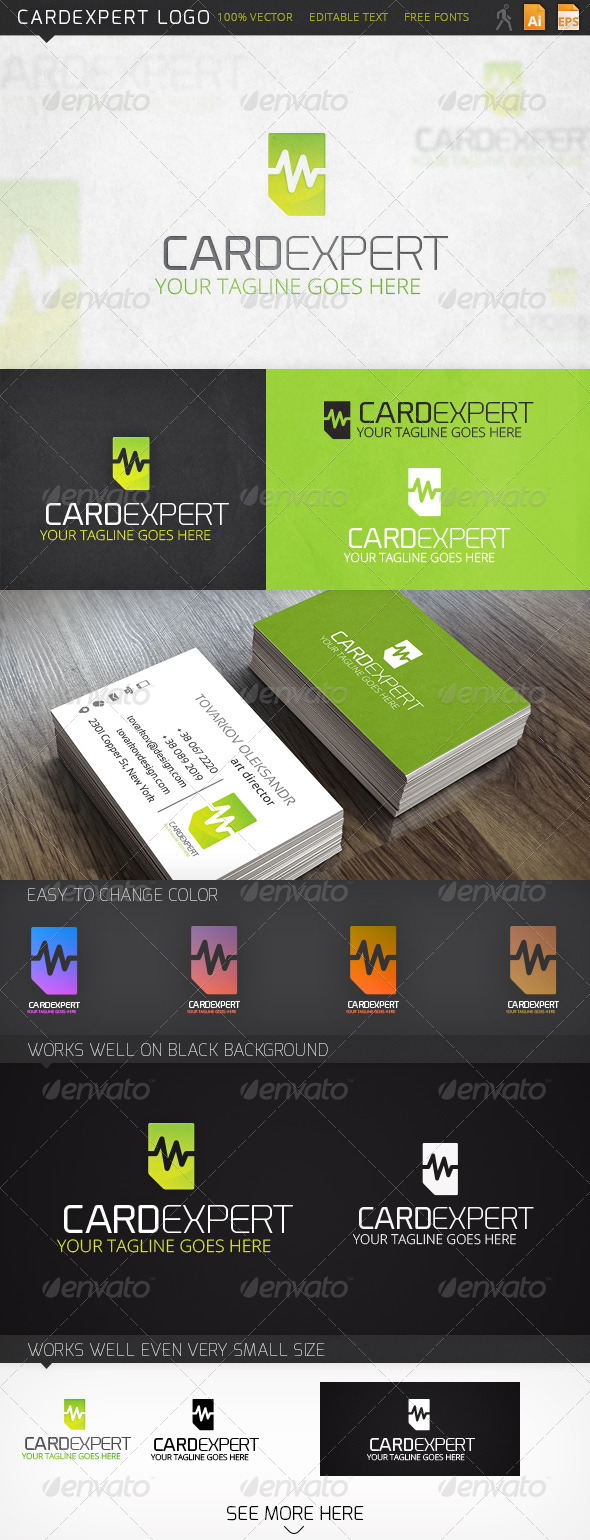 Cardexpert Memory Card Logo Template - Objects Logo Templates