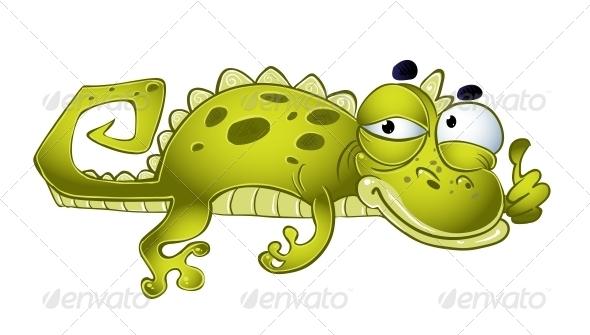 Green Vector Weakening Lizard - Animals Characters