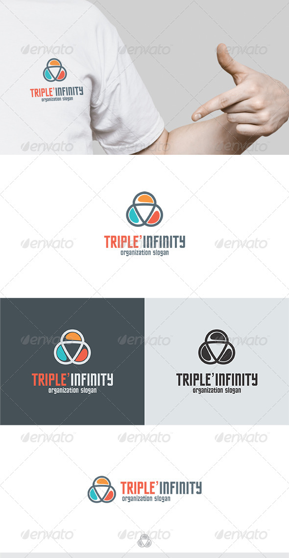 Triple Infinity Logo 2 - Vector Abstract
