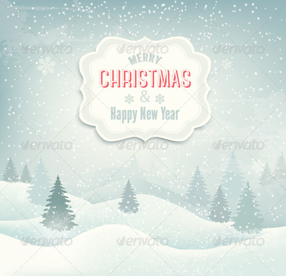 Retro Holiday Christmas Background - Christmas Seasons/Holidays