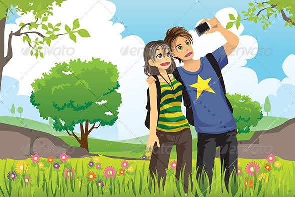 Tourist Couple - Travel Conceptual