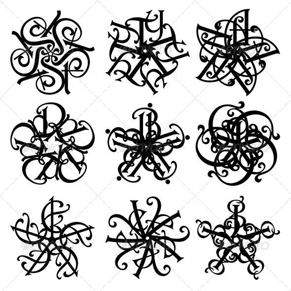 Floral Design - Flourishes / Swirls Decorative