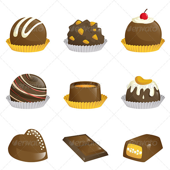 Chocolates Icons - Food Objects