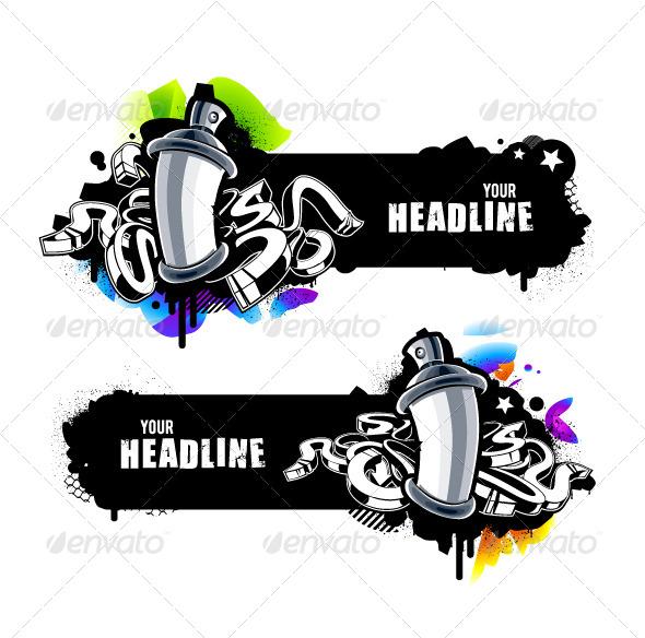 Graffiti Banners - Vectors