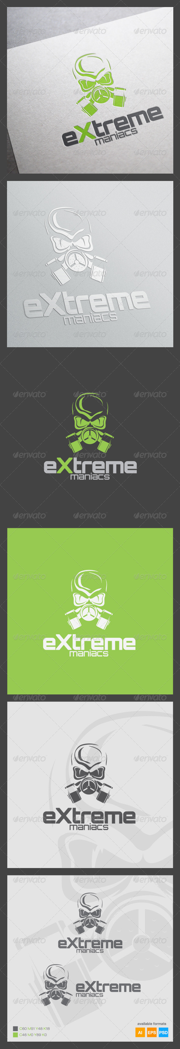 Extreme Maniacs Logo Template - Humans Logo Templates