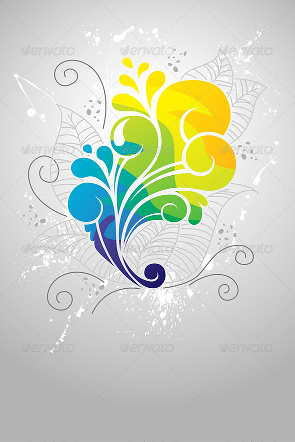 Floral Abstract Design - Decorative Vectors