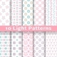 Light Floral Romantic Vector Seamless Patterns - GraphicRiver Item for Sale