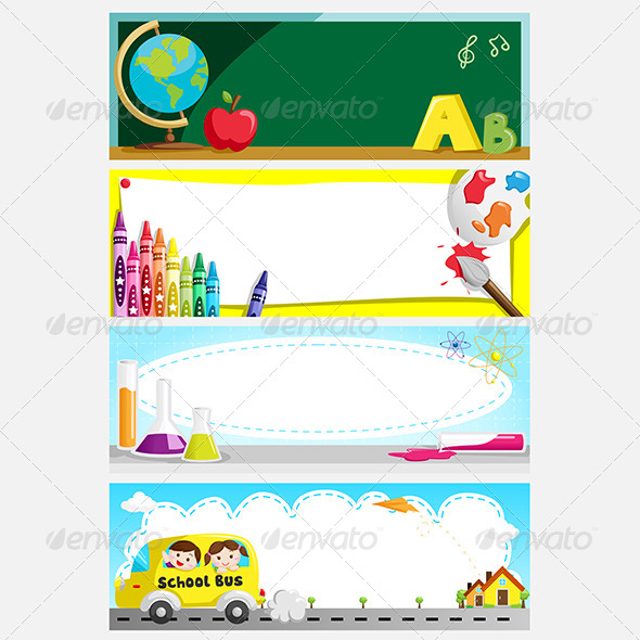 Education Banners - Decorative Vectors