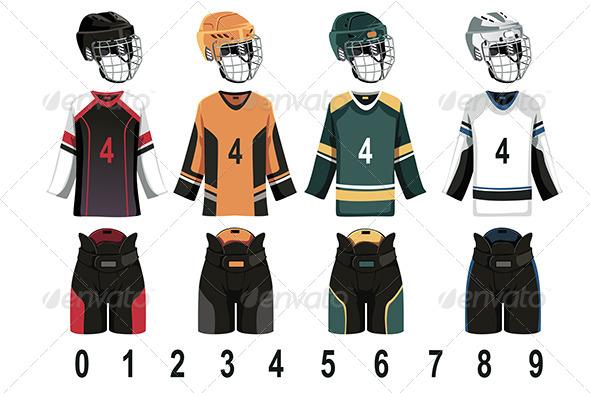 Ice Hockey Jersey - Sports/Activity Conceptual