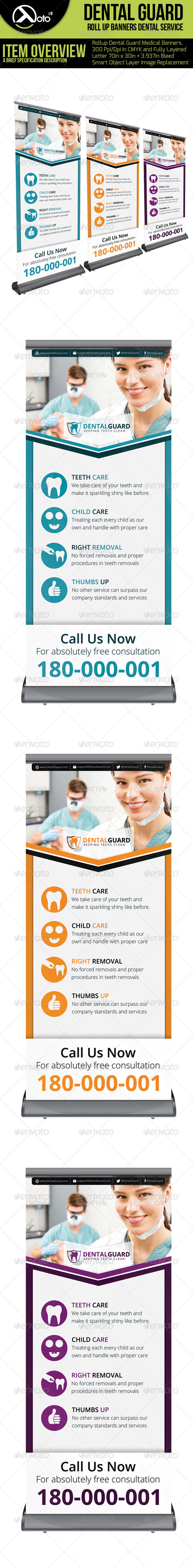 Dental Guard Medical Roll Up Banners - Signage Print Templates