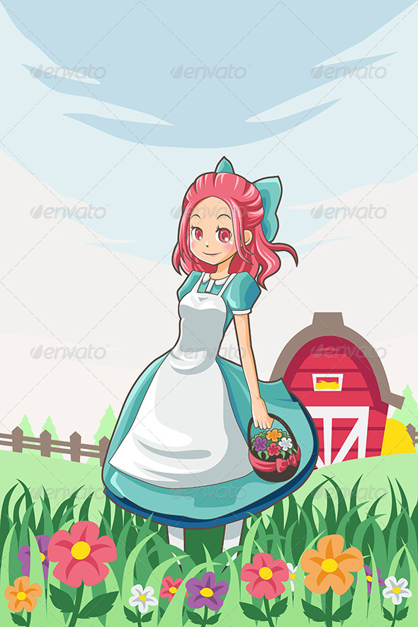 Country Farm Girl - People Characters