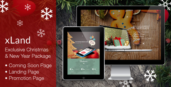 xLand - Exclusive Christmas / New Year Package - Specialty Pages Site Templates