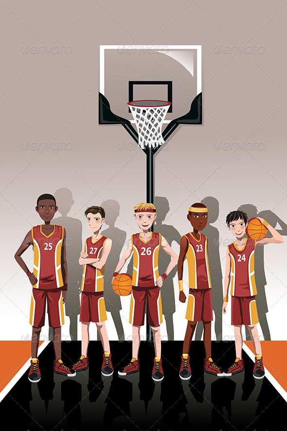 Basketball Team Players - Sports/Activity Conceptual