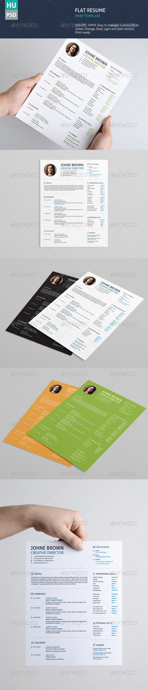 flat resume by bloomthemez graphicriver