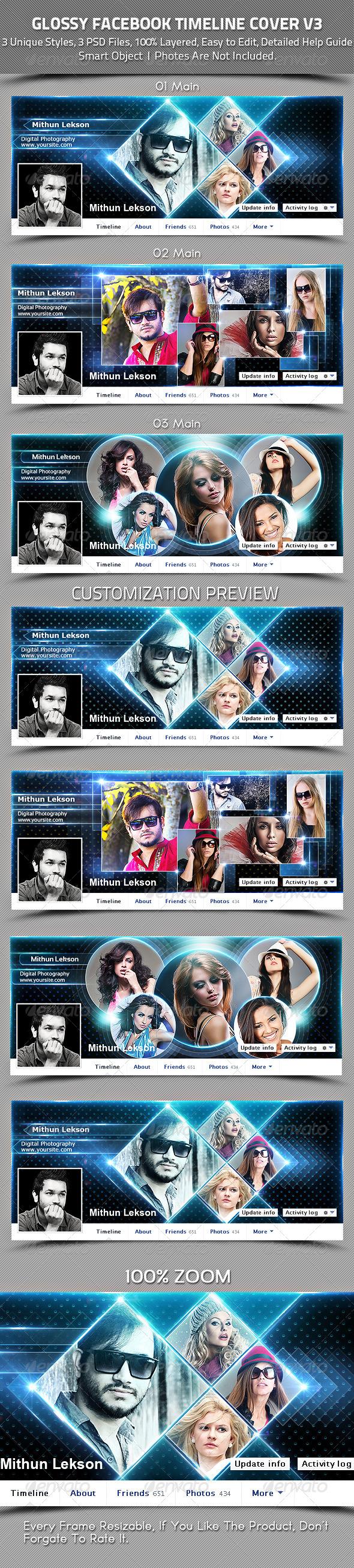 Glossy Facebook Timeline Cover V3 - Facebook Timeline Covers Social Media