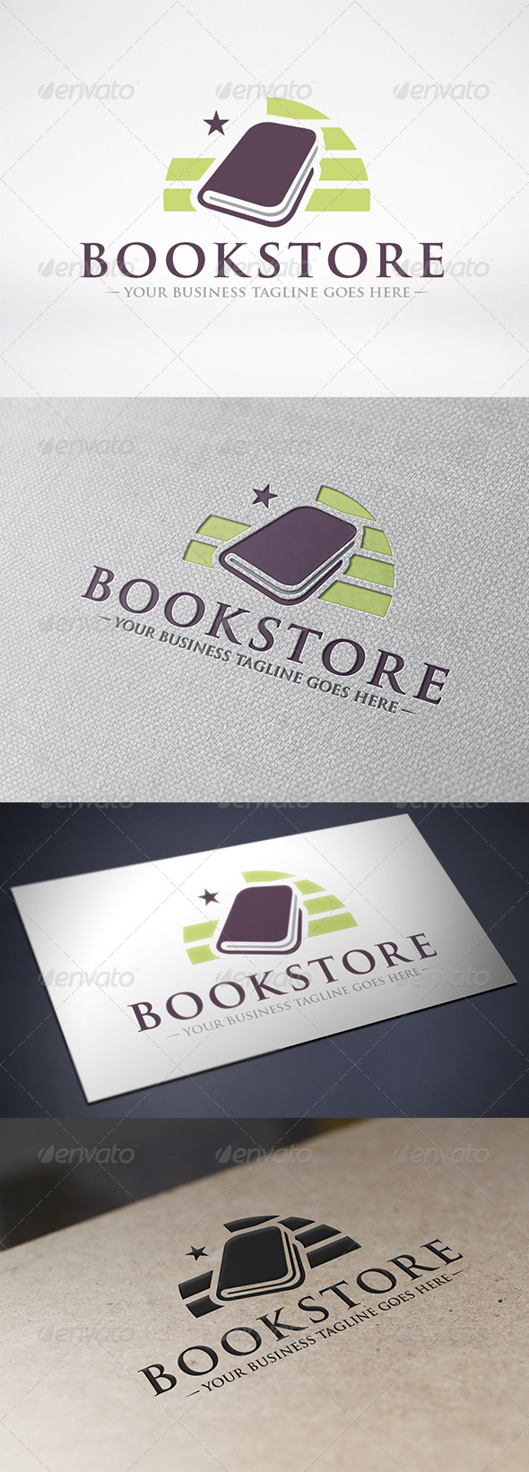 Book Store Logo Template - Objects Logo Templates