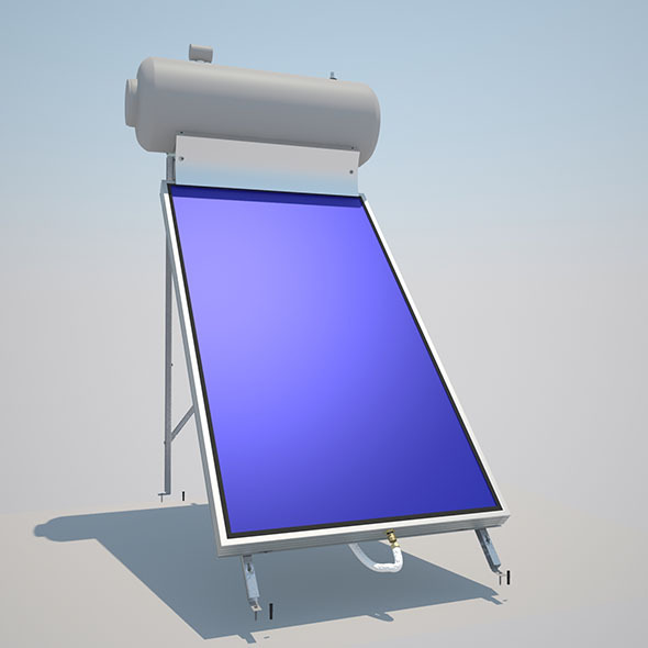 Solar Collector with metal frame - 3DOcean Item for Sale