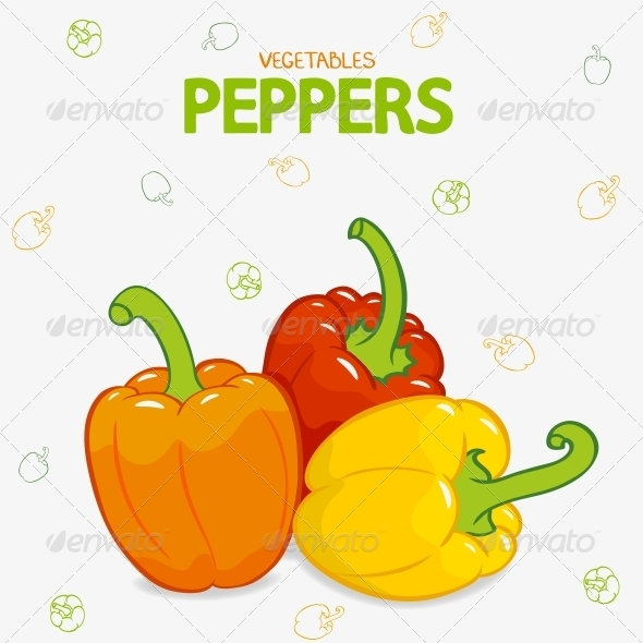 Peppers Sweet - Food Objects