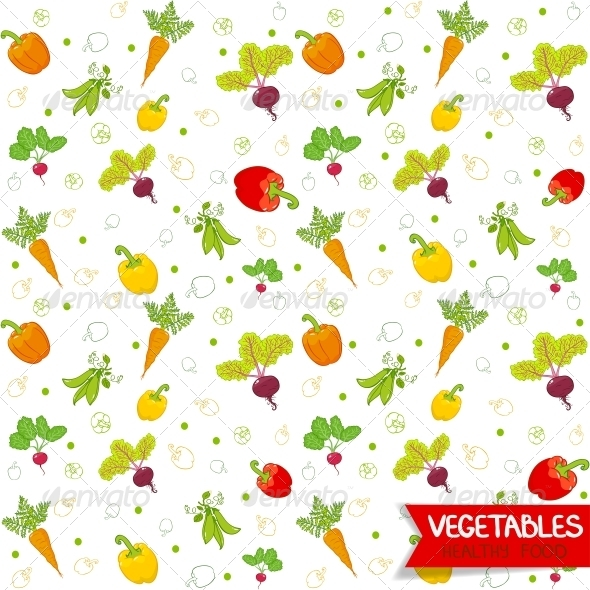 Vegetables Pattern - Food Objects