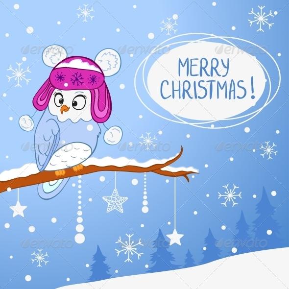 Owl Xmas - Christmas Seasons/Holidays