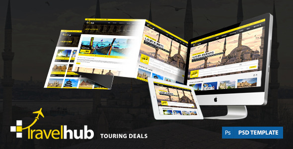 Travel Hub - Touring Packages - PSD Template - Travel Retail