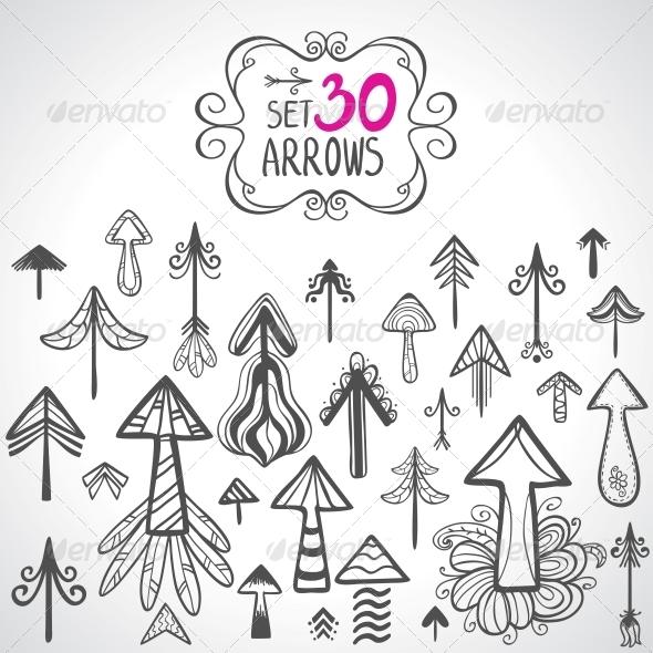 set arrows - Decorative Symbols Decorative