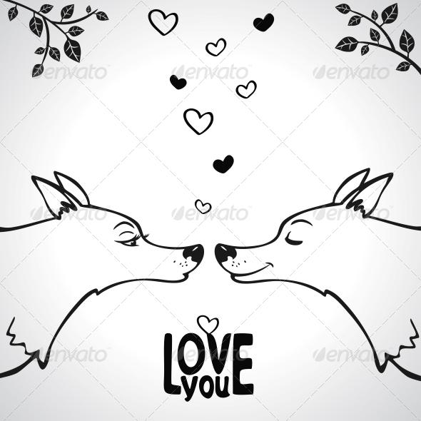 Wolf Love - Valentines Seasons/Holidays