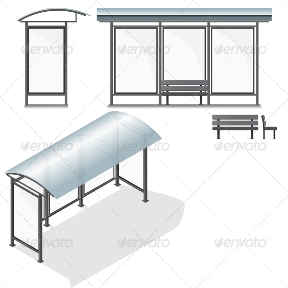 Bus Stop. Empty Design Template for Branding - Backgrounds Business