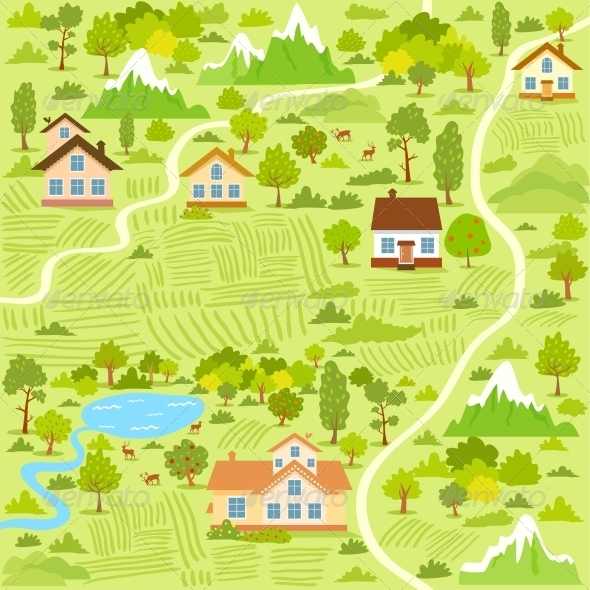 Village Map - Landscapes Nature
