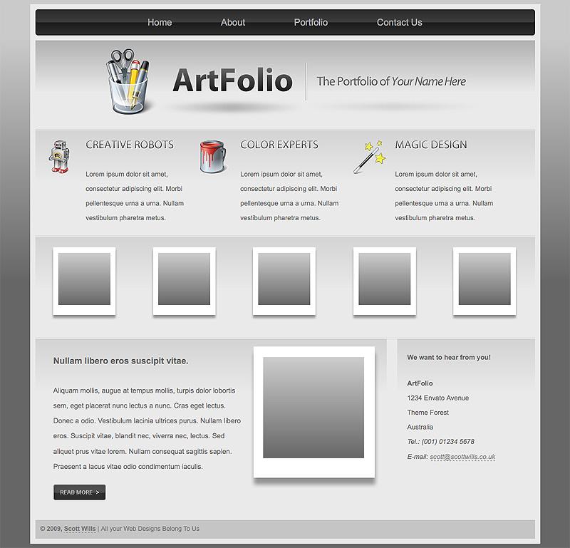 Art Folio | Portfolio Template