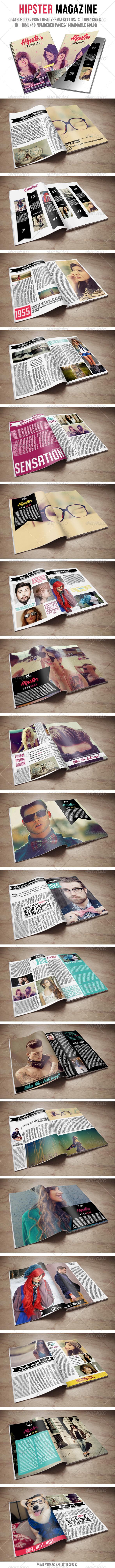 Hipster Magazine - Magazines Print Templates