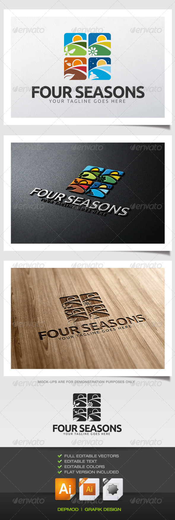 Four Seasons Logo - Nature Logo Templates
