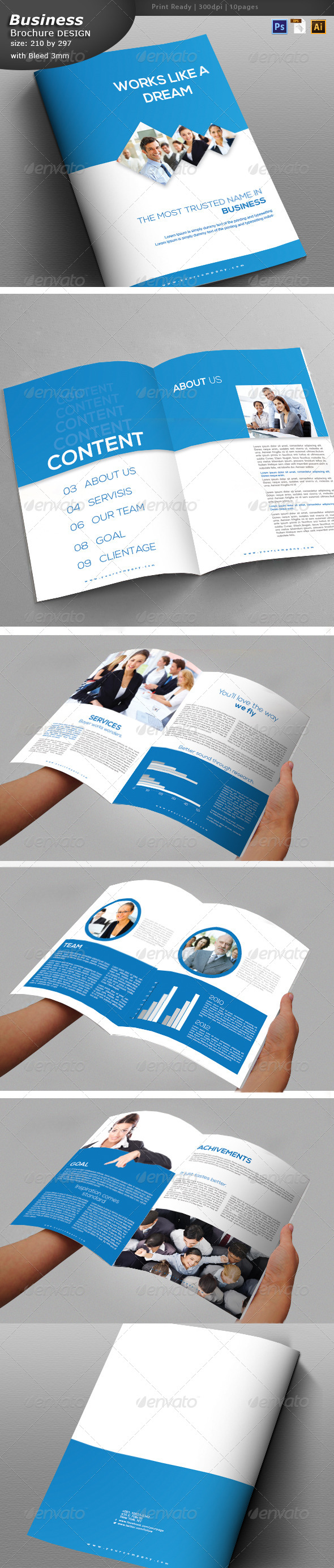 Officail Document Design  - Brochures Print Templates