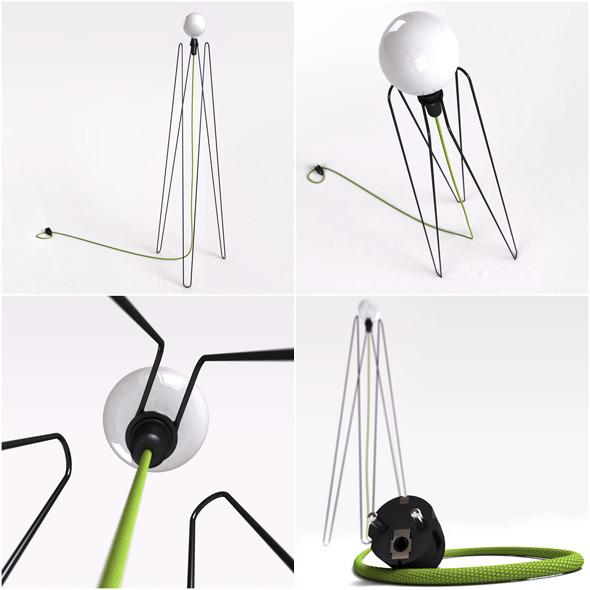 Floor Lamp MODEL2 - 3DOcean Item for Sale