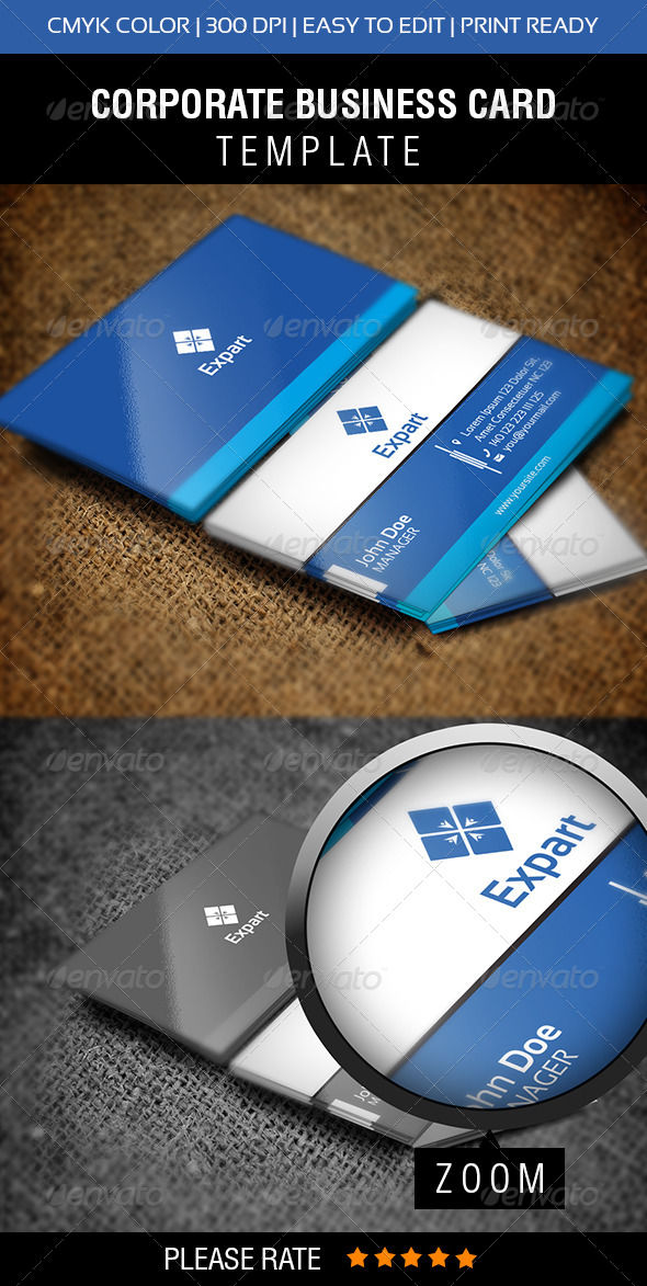 Expert Business Card - Corporate Business Cards