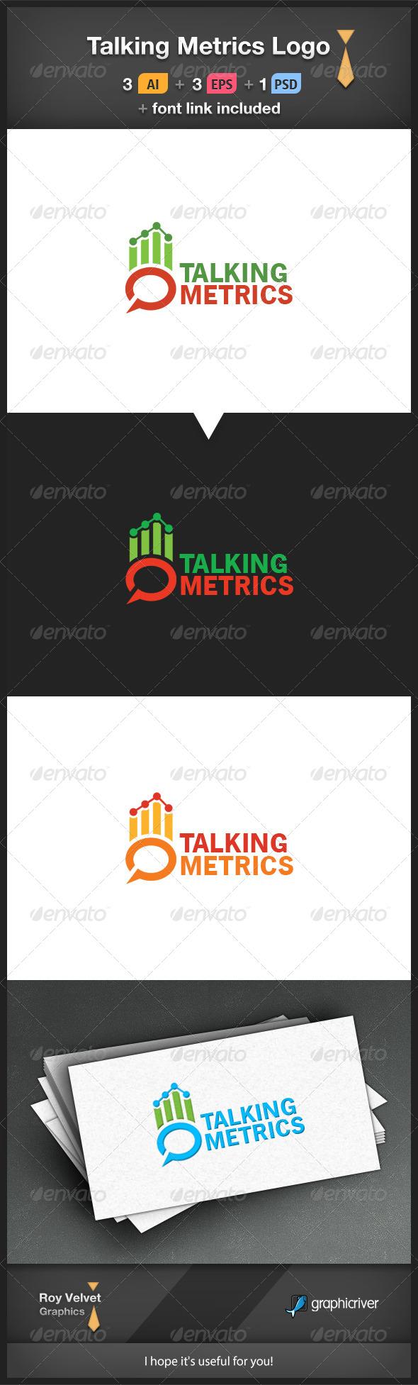 Talking Metrics Logo - Symbols Logo Templates
