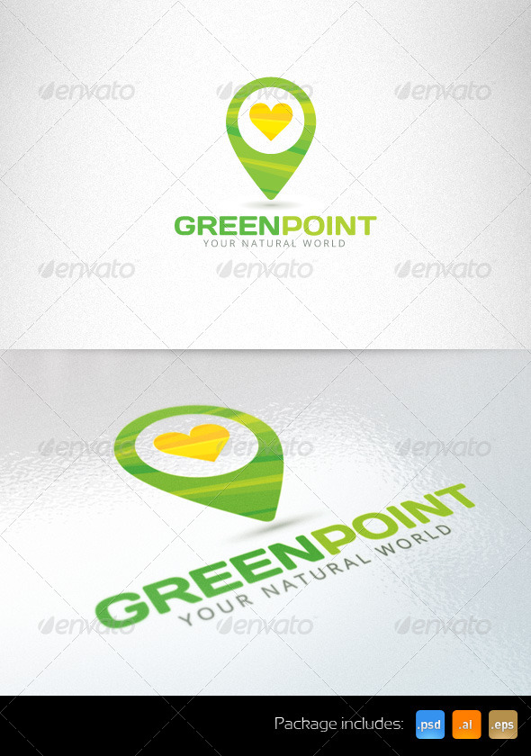 Green Point Organic Eco Logo Template - Nature Logo Templates