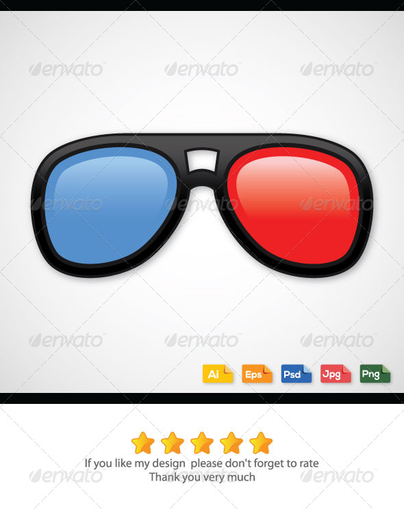 3D Glasses - Technology Conceptual