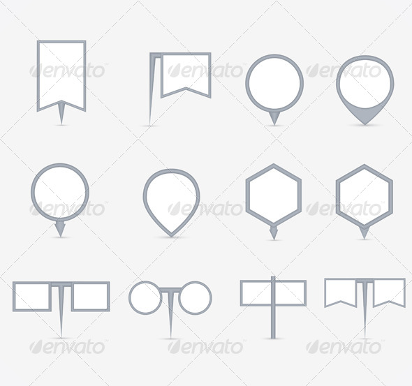 Set of Navigational Markers - Business Conceptual
