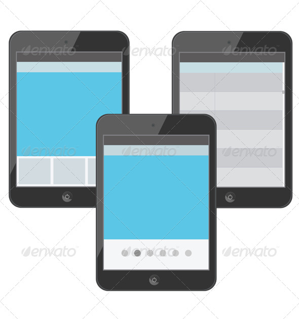 Set of Digital Devices with Tabs - Technology Conceptual
