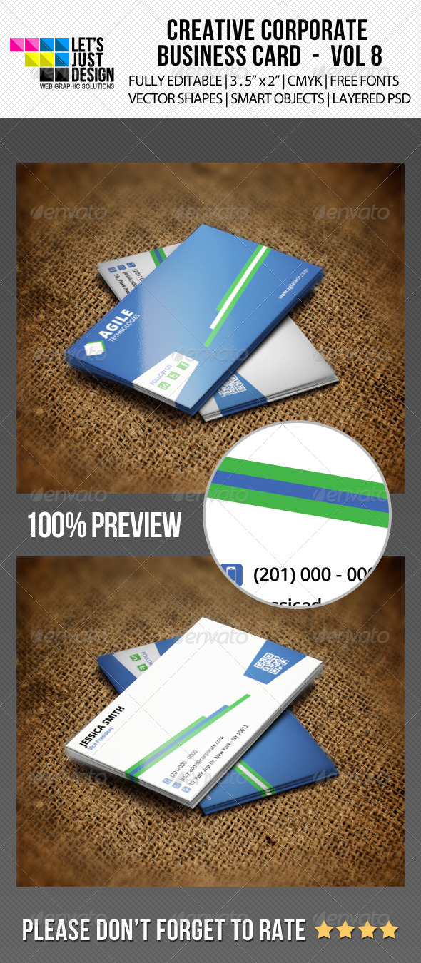 Corporate Business Card Vol 8 - Corporate Business Cards
