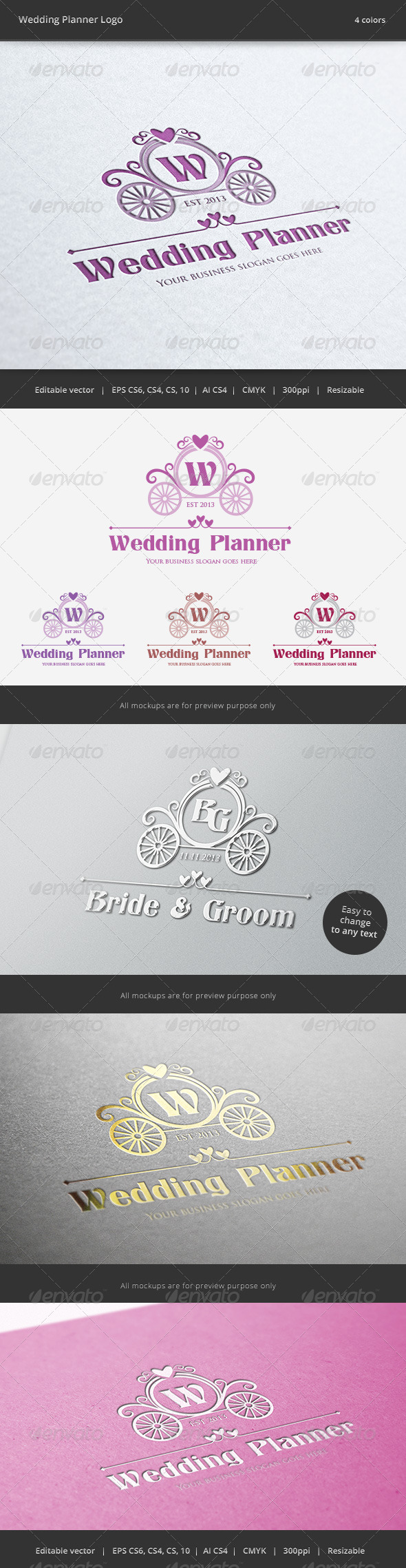 Wedding Planner Letter Crest Logo - Crests Logo Templates